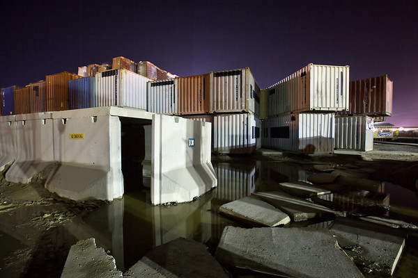 Some compounds consist of stacked shipping containers, making them resemble ancient castle keeps.